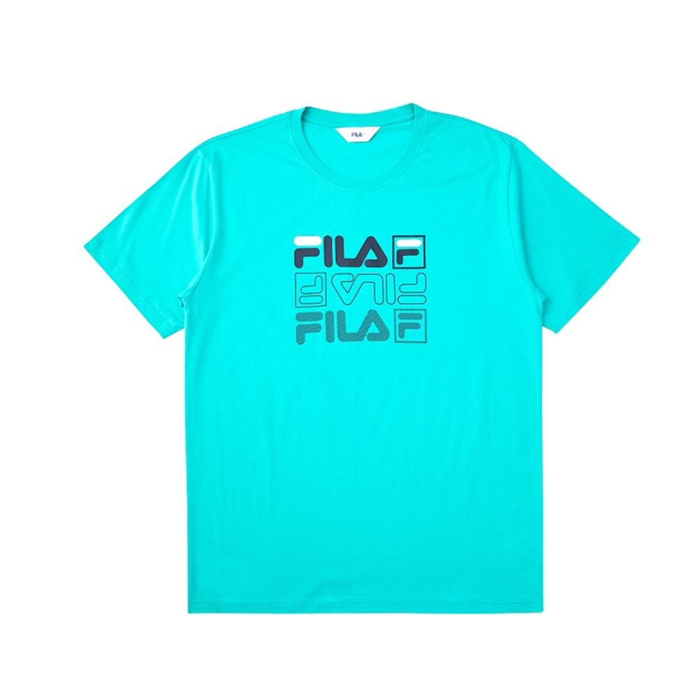 FILA 短袖圓領T恤-藍綠 1TEV-1514-TG