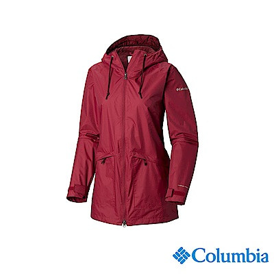 Columbia 哥倫比亞 女款-OT防水長版外套-紫紅 UWL01660PD