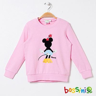 bossini女童-米奇系列厚棉上衣03嫩粉