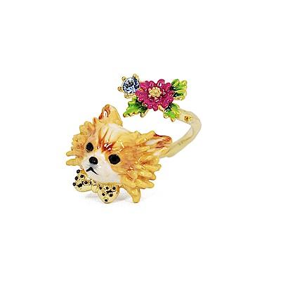 Les Nereides 動物花園系列 吉娃娃花園 鑲鑽可調整戒指