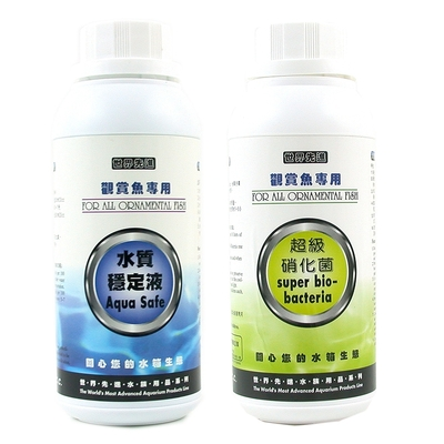 Mr.Aqua《世界先進》超級硝化菌+Mr.Aqua《世界先進》水質穩定劑