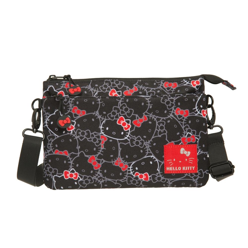 【Hello Kitty】繽紛凱蒂-雙層側背包-黑 KT01V03BK