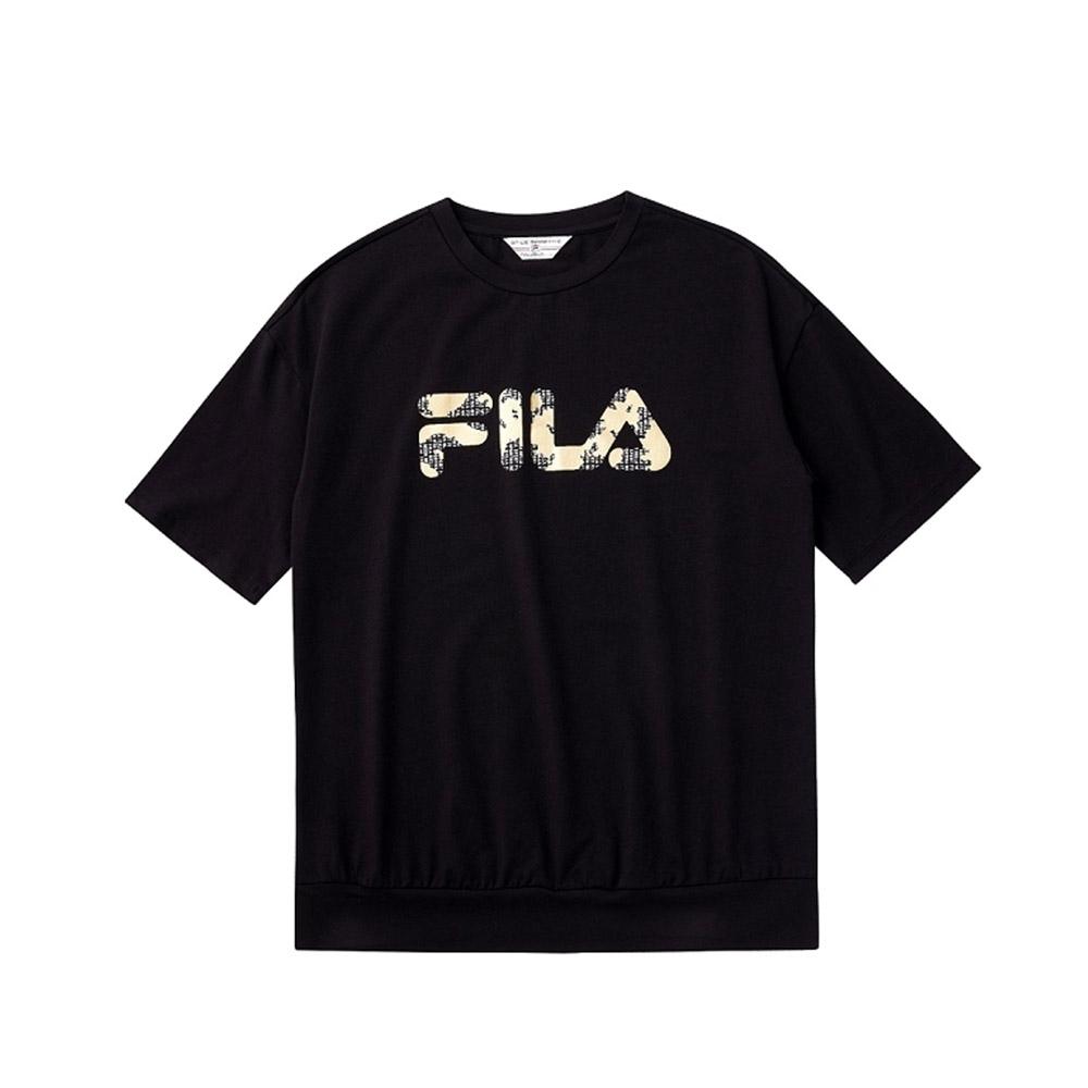 FILA 女短袖圓領T恤-黑色 5TEV-1713-BK