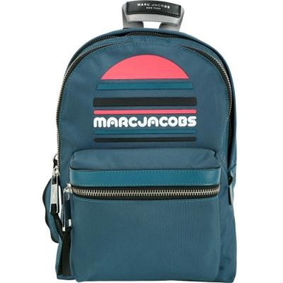 MARC JACOBS Trek Pack Sport 中款輕質高性能尼龍後背包(藍綠)