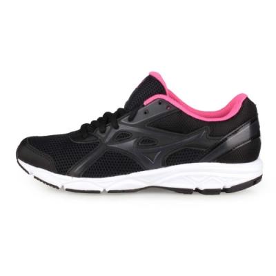 MIZUNO 女 慢跑鞋-WIDE MAXIMIZER 22 黑粉紅