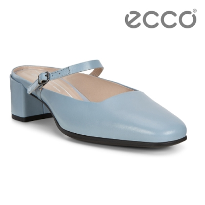 ECCO SHAPE 35 SQUARED 復古瑪莉珍方跟涼鞋 女鞋-藍色
