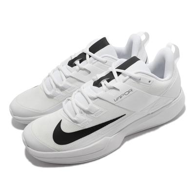 Nike 網球鞋 Vapor Lite HC 運動 男鞋 透氣 支撐 包覆 避震泡棉 運動 白 黑 DC3432-125