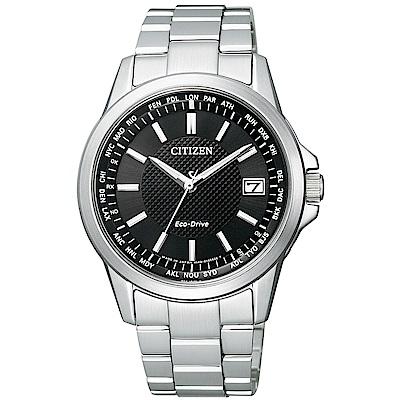 CITIZEN 星辰/GENTS 紳士必備電波光動能腕錶/CB1090-59E