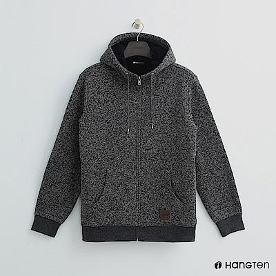 Hang Ten - 男裝 -混織休閒連帽外套 - 灰