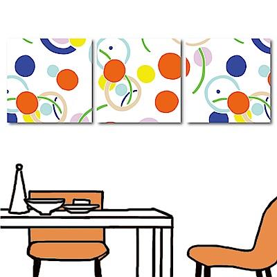 美學365 三聯式方形 掛畫無框畫-萬花筒30x30cm