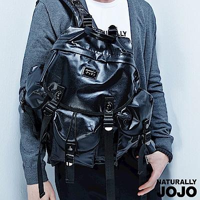 【NATURALLY JOJO】Y-P時尚旅用後背(黑)