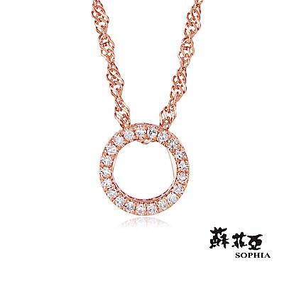 蘇菲亞SOPHIA 鑽石項鍊-無限愛玫瑰金14K鑽鍊