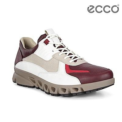ECCO MULTI-VENT M 全方位城市戶外運動休閒鞋 男-酒紅/灰/白
