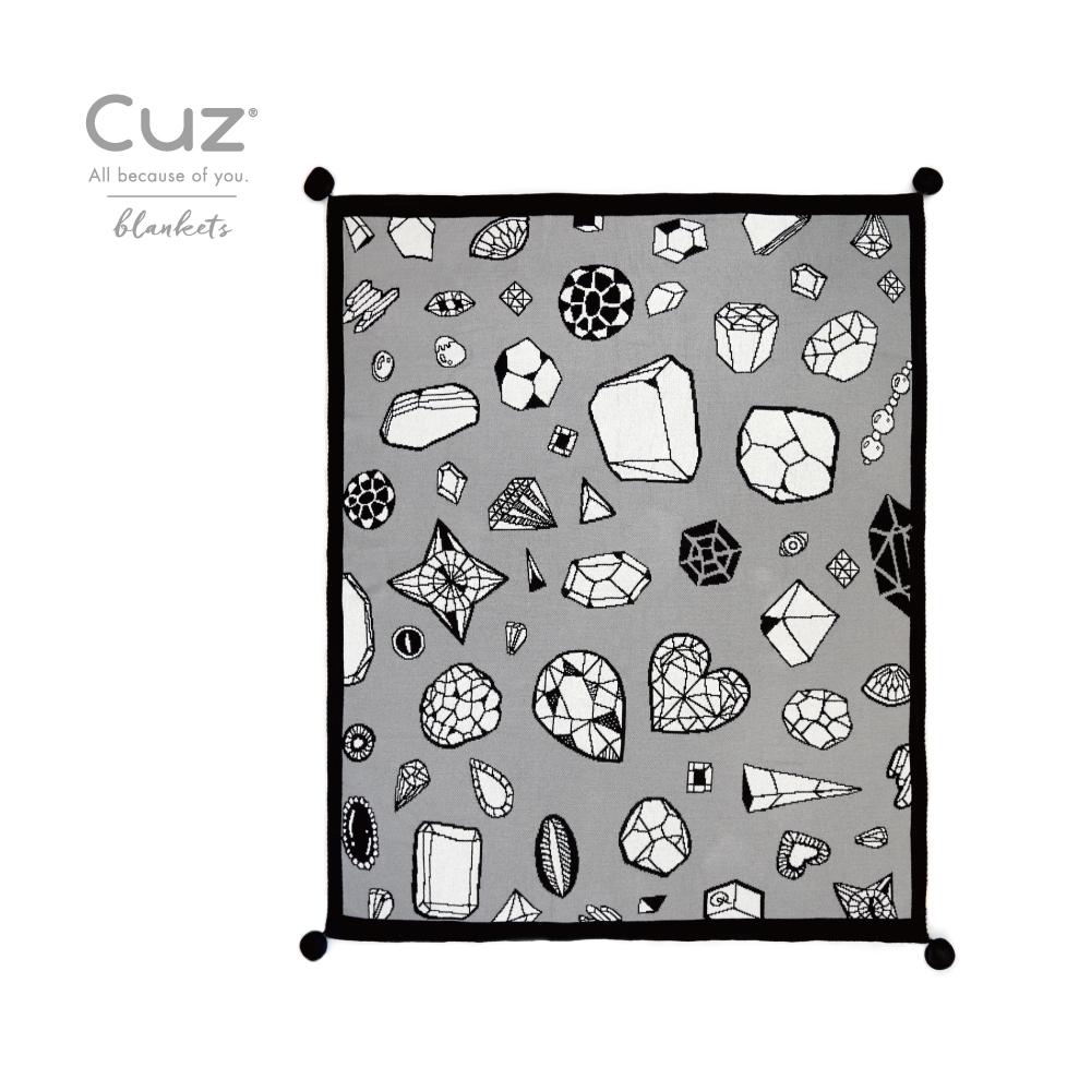 Cuz 設計款有機棉織毯(多款任選)