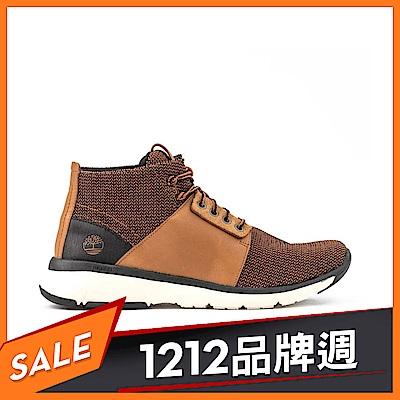 Timberland 男款咖啡全粒面皮革Altimeter運動靴|A1SCA