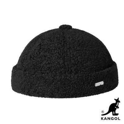 KANGOL-PLUSH 毛絨頭顱帽-黑色