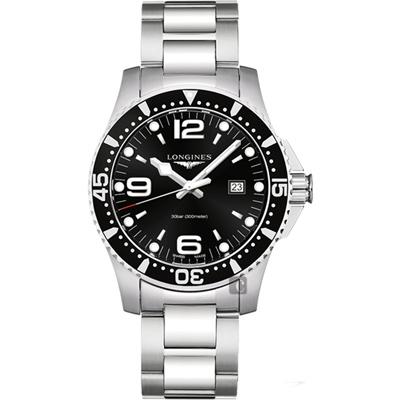 LONGINES 浪琴(L38404566)石英300米黑面潛水款x44mm