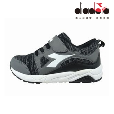 Diadora 歐風運動童鞋 中童 超寬楦 黑 DA9AKC7900