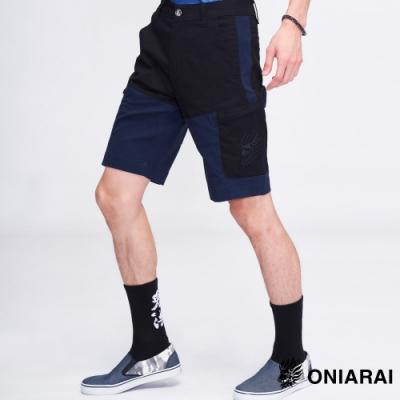 鬼洗い  BLUE WAY  - 鬼著撞色口袋休閒色短褲