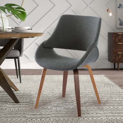 E-home Erica艾莉卡全布面餐椅 灰色