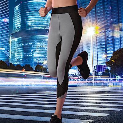 華歌爾-時尚  M-3L 七分壓力褲(灰)吸濕快乾