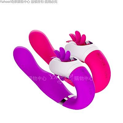蜜舌之吻 首款混動式按摩棒 邊舔+邊插+邊震+智能加溫 爽爆妳所有敏感神經 桃