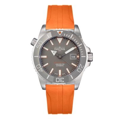 DAVOSA  Argonautic BG W6 300M排氦氣專業潛水橘色橡膠帶錶