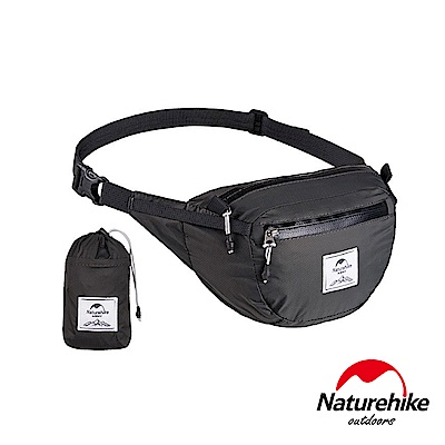 Naturehike 6L云雁超輕量防潑水折疊運動腰包 胸前包 黑色-急
