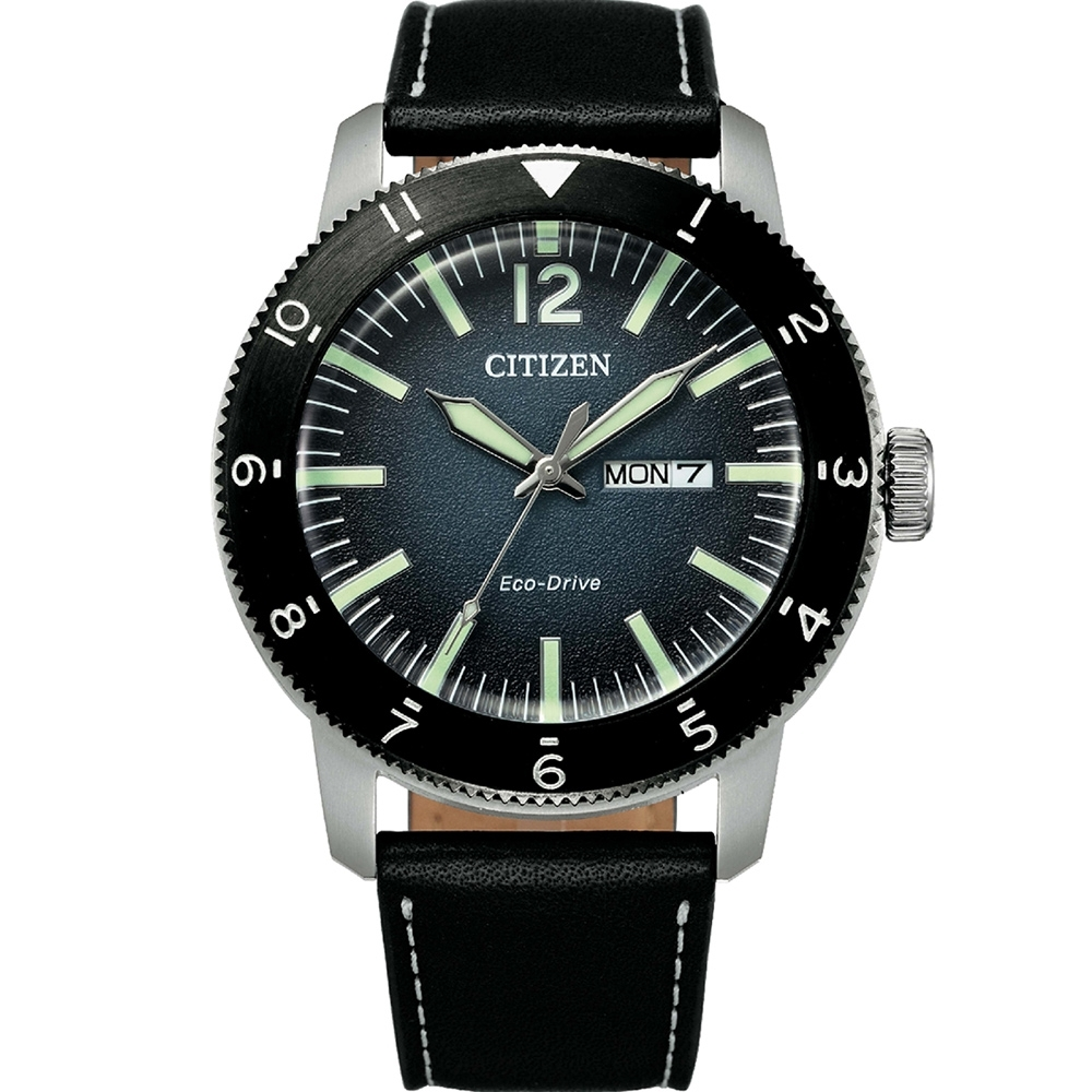 CITIZEN GENTS 蔚藍之海光動能男錶(AW0077-19L)43mm