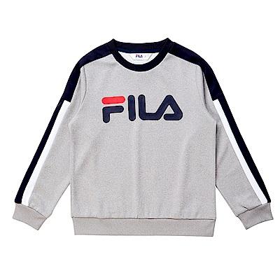 FILA KIDS針織上衣-麻灰 1TES-8404-MY