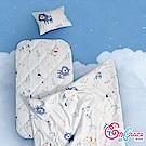 Embrace英柏絲 狗狗散步 Tencel天絲 吸濕排汗 兒童三件組 鋪棉床墊+涼