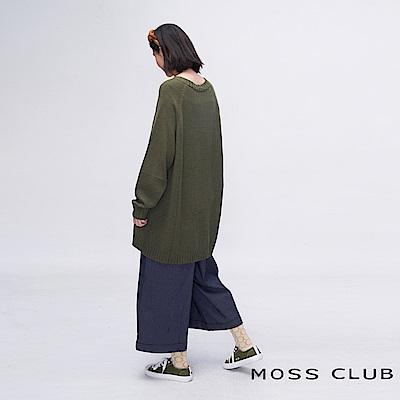 MOSS CLUB INLook 九分奶奶喇叭寬褲(藍色)