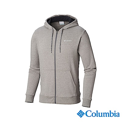 Columbia 哥倫比亞 男款-UPF50棉質連帽上衣-灰色 UAJ07050GY