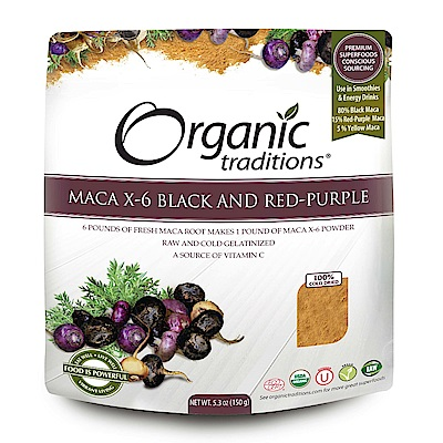 Organic Traditions 有機6倍濃縮瑪卡粉(150g)