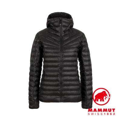 【Mammut 長毛象】Albula IN Hooded Jacket 防潑水連帽羽絨外套 黑色 女款 #1013-01790