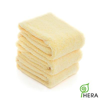 HERA 3M專利瞬吸快乾抗菌超柔纖毛巾3入組-奶油黃