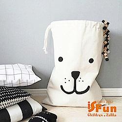 iSFun 加厚帆布大容量棉被衣物收納束口袋 (2款)