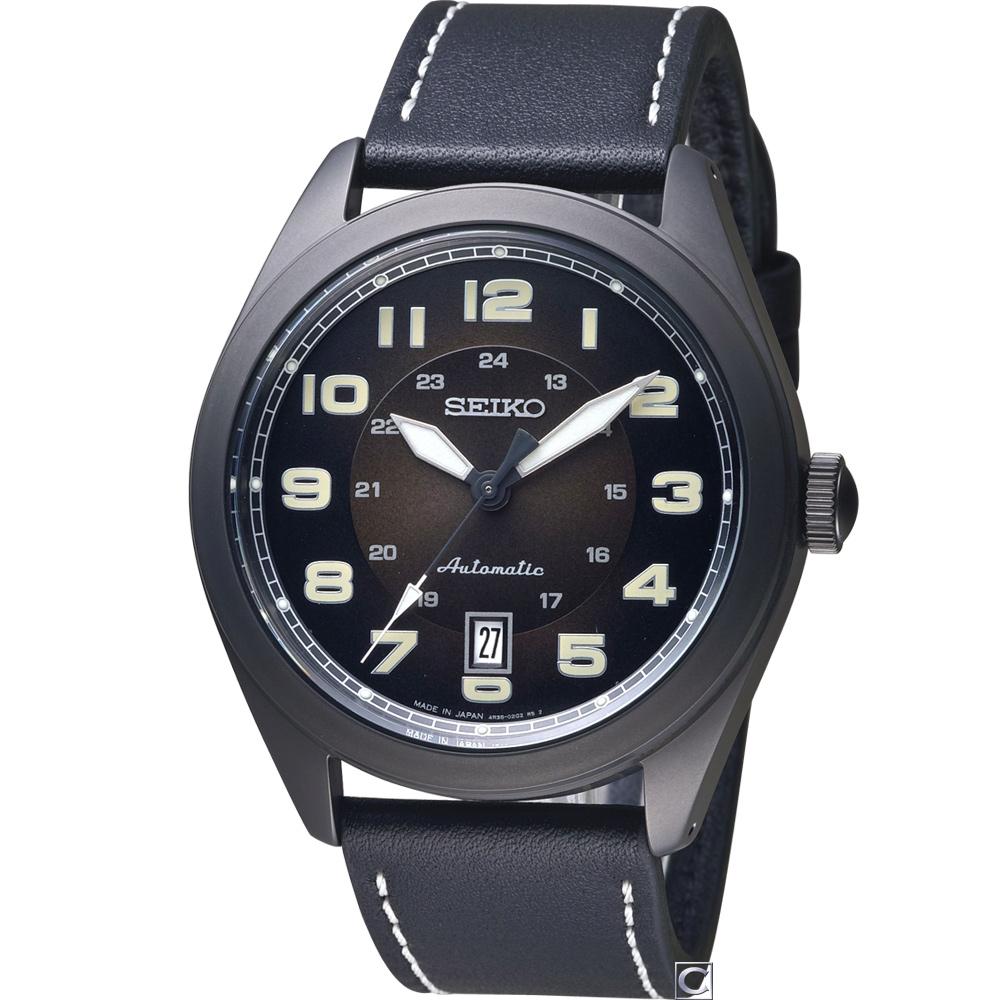 SEIKO 精工 雷霆戰士機械錶(SRPC89J1)黑/44mm