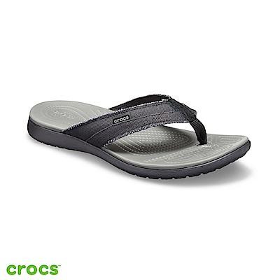 Crocs 卡駱馳 (男鞋) 聖克魯茲帆布人字拖 205612-0DD