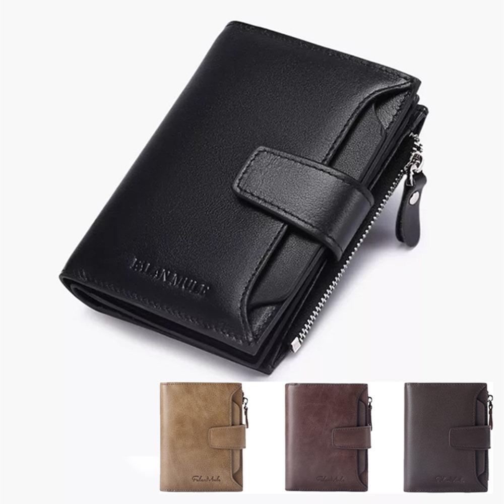 玩皮工坊-真皮牛皮11卡位男士獨立卡位皮夾錢夾錢包中夾短夾男夾-LH551