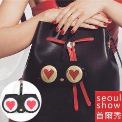 seoul show首爾秀  愛心眼睛外掛墨鏡收納包光學眼鏡保護夾太陽眼鏡盒