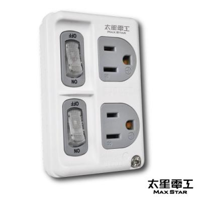 太星電工 3P二開二插分接式插座  AE3322