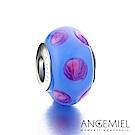 Angemiel安婕米 義大利925純銀 琉璃串珠 靛藍點點