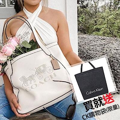 COACH 兩用大包均價5880再贈CK購物袋