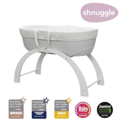【英國Shnuggle】甜夢嬰兒床Dreami-銀河灰(多功能移動式床邊床)