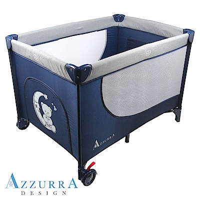 AZZURRA Travel遊戲床(附蚊帳)-藍