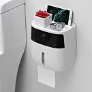 北歐簡約風家用免鑽孔壁挂式紙巾盒/置物架(收納架)
