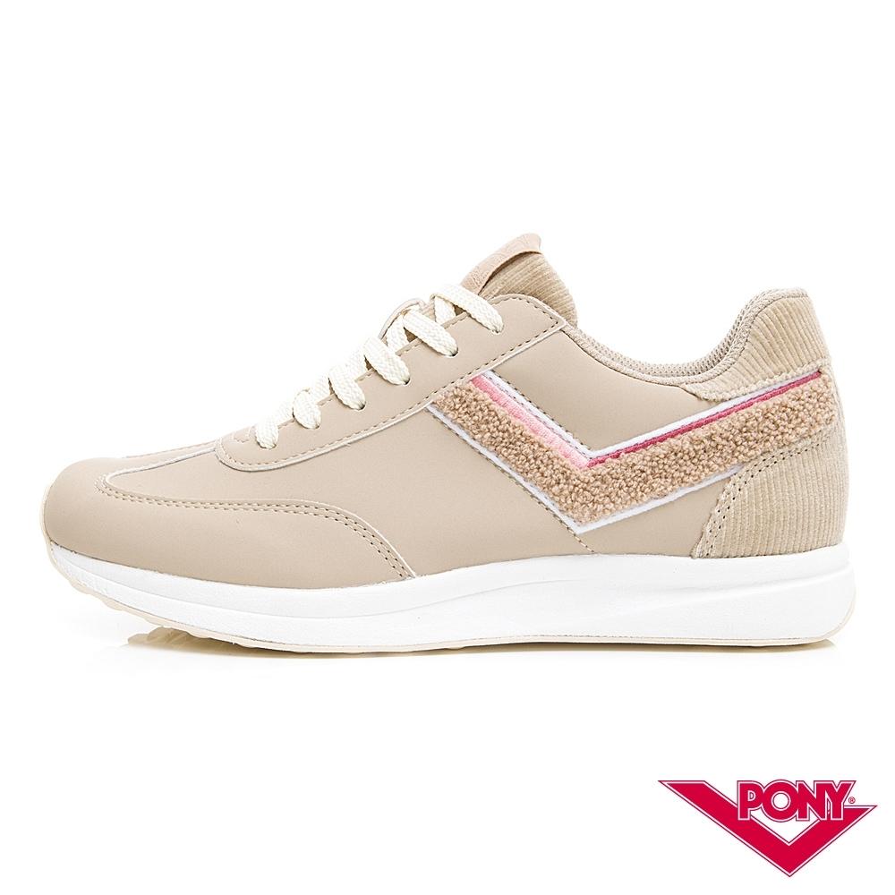 【PONY】Montreal 輕量時尚運動鞋 慢跑鞋 休閒鞋-女鞋 卡其