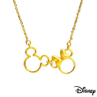 Disney迪士尼金飾 相依偎黃金項鍊
