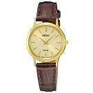 SEIKO精工  交響情人夢太陽能石英女腕錶(SUP302P1)-金x38mm